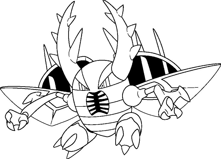 Coloriage Méga-Scarabrute Pokemon