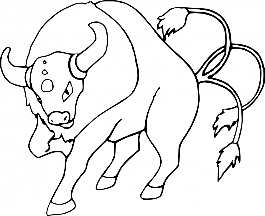 Coloriage Tauros Pokemon