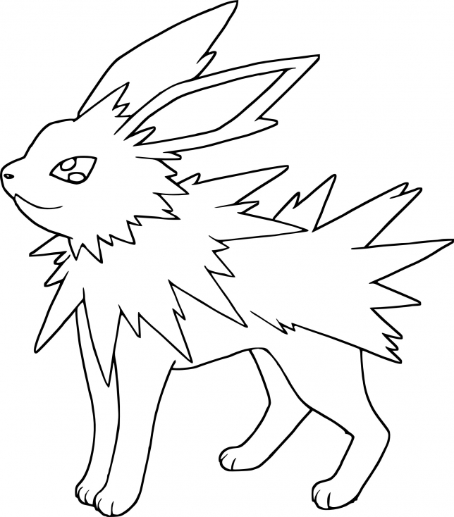 Coloriage Voltali Pokemon
