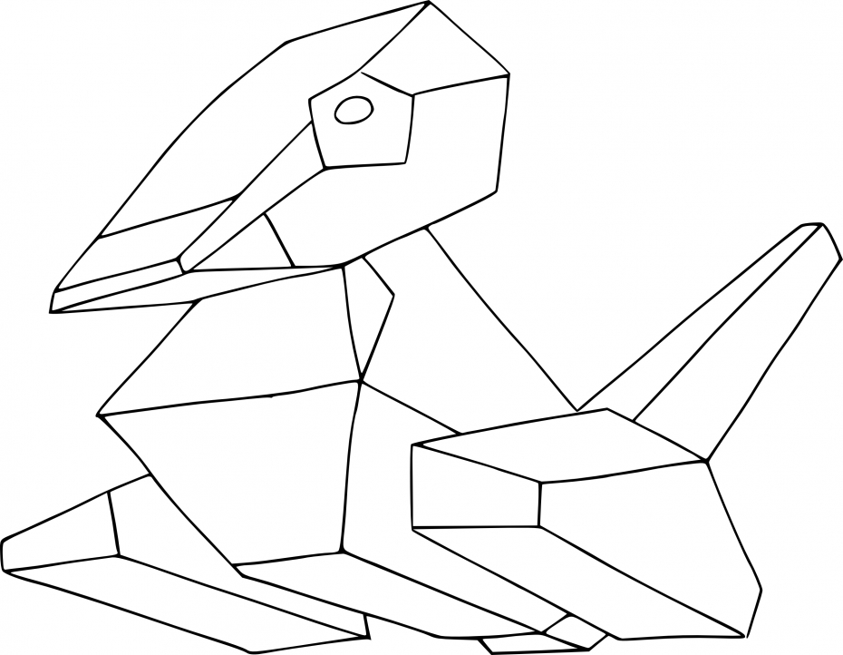 Coloriage Porygon Pokemon