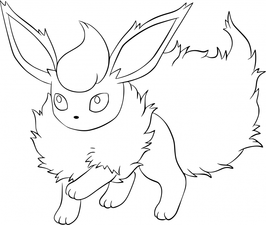 Coloriage Pyroli Pokemon