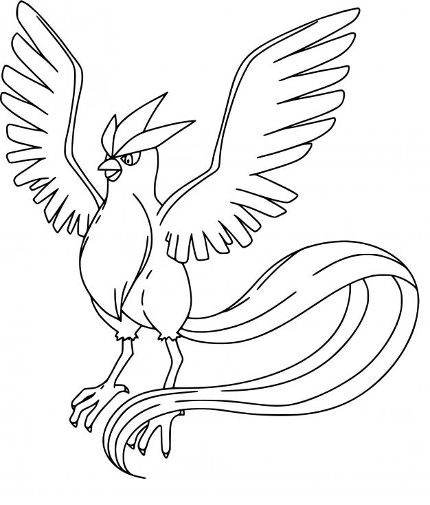 Coloriage Artikodin Pokemon