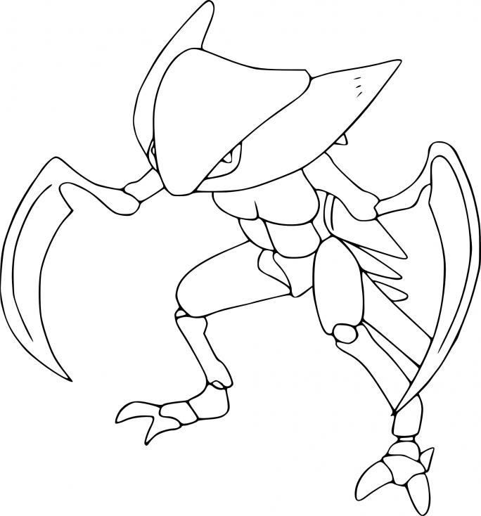 Coloriage Kabutops Pokemon