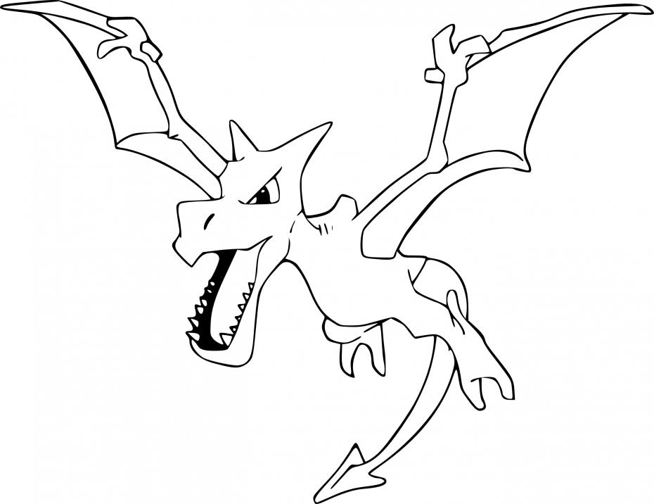 Coloriage Ptéra Pokemon