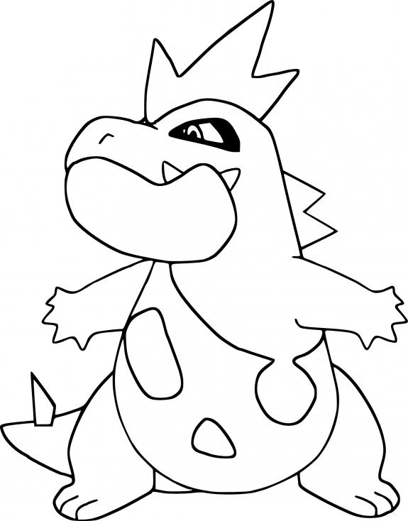 Coloriage Crocrodil Pokemon