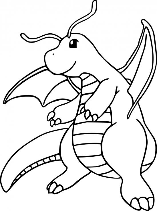 Coloriage Dracolosse Pokemon