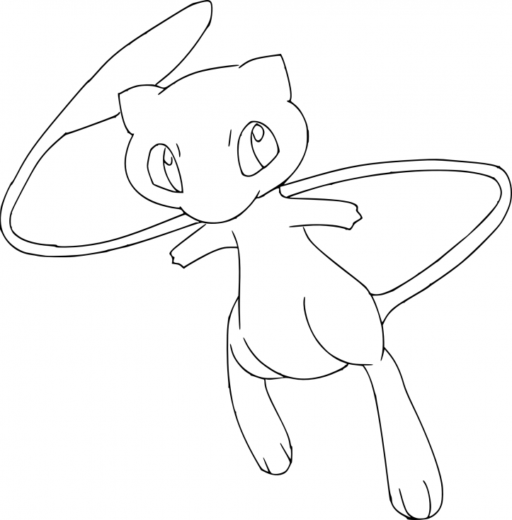 Coloriage Mew Pokemon