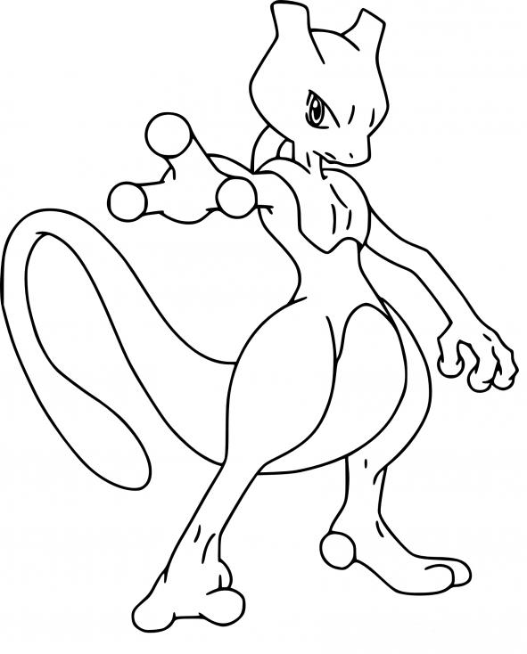 Coloriage Mewtwo Pokemon
