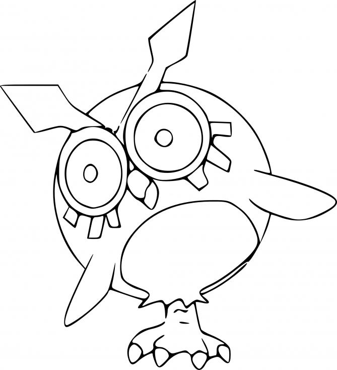 Coloriage Hoothoot Pokemon