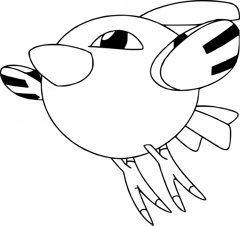 Coloriage Natu Pokemon