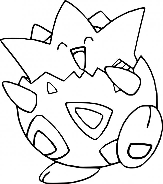 Coloriage Togepi Pokemon