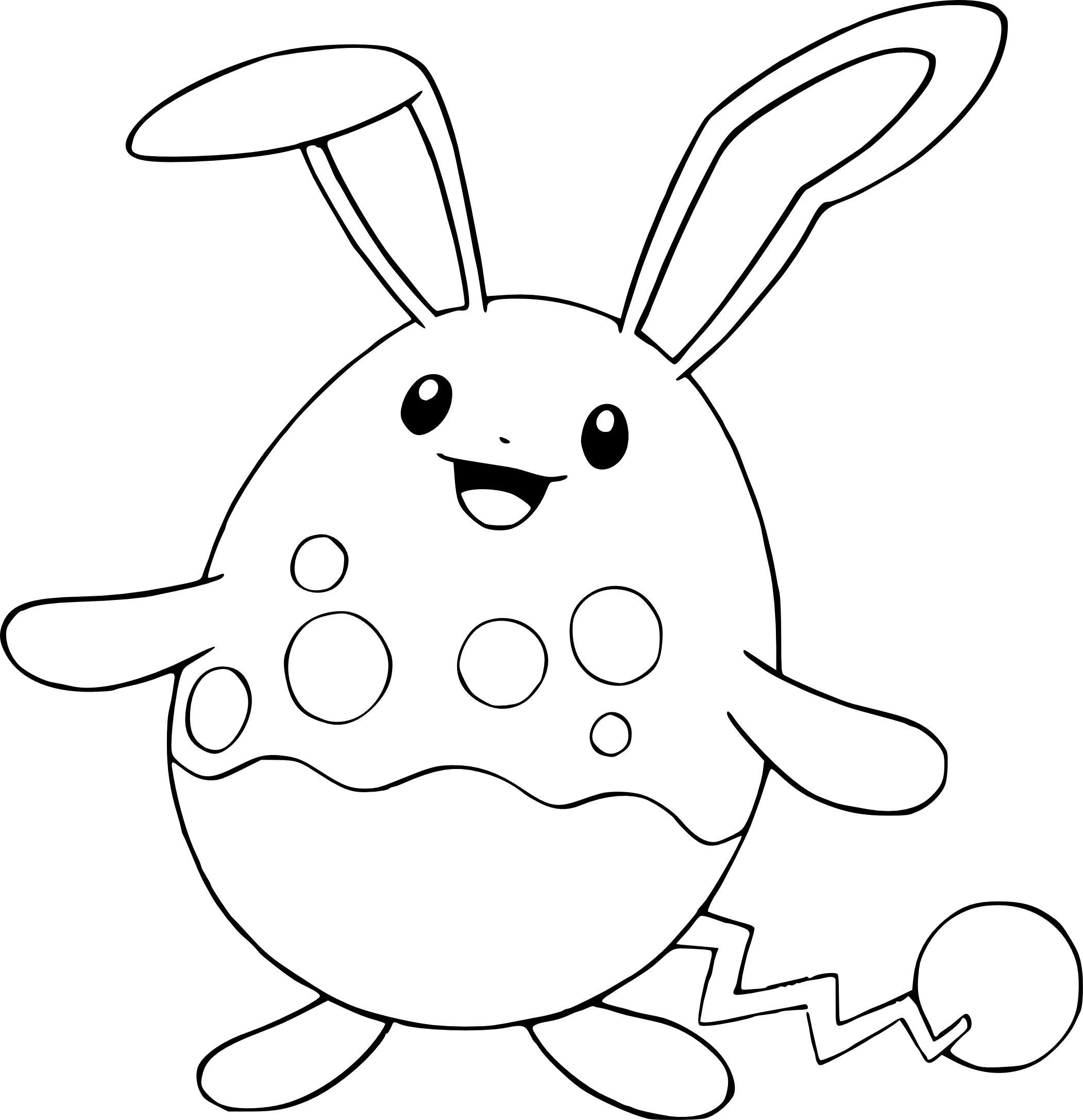 Coloriage Azumarill Pokemon 224 Imprimer