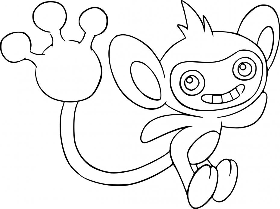 Coloriage Capumain Pokemon