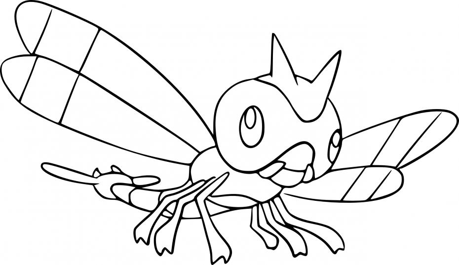 Coloriage Yanma Pokemon