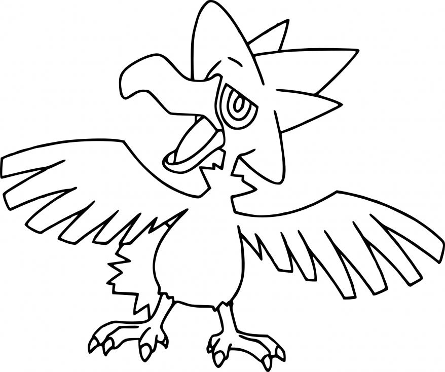 Coloriage Cornèbre Pokemon