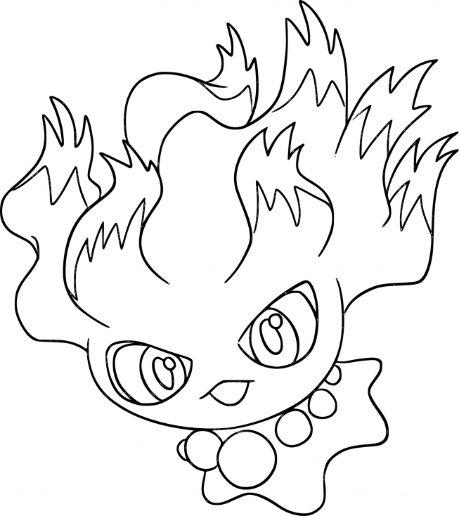 Coloriage Feuforêve Pokemon