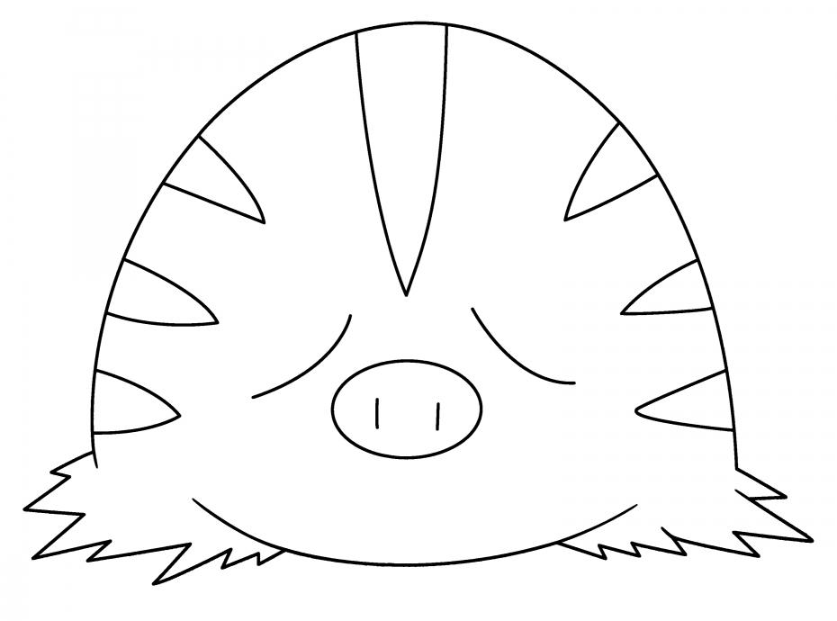 Coloriage Marcacrin Pokemon