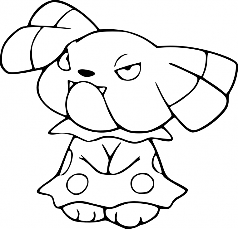 Coloriage Snubbull Pokemon