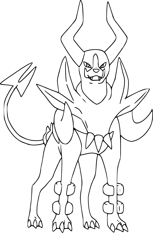 Coloriage Mega Demolosse Pokemon A Imprimer