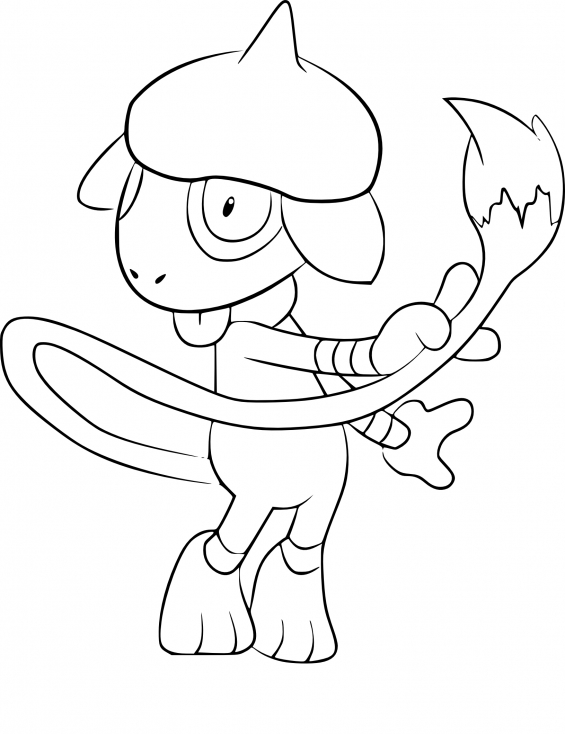 Coloriage Queulorior Pokemon