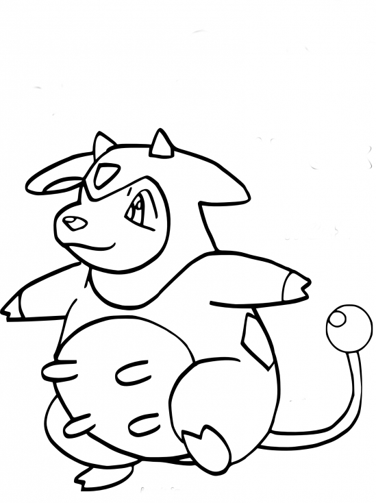 Coloriage Écrémeuh Pokemon