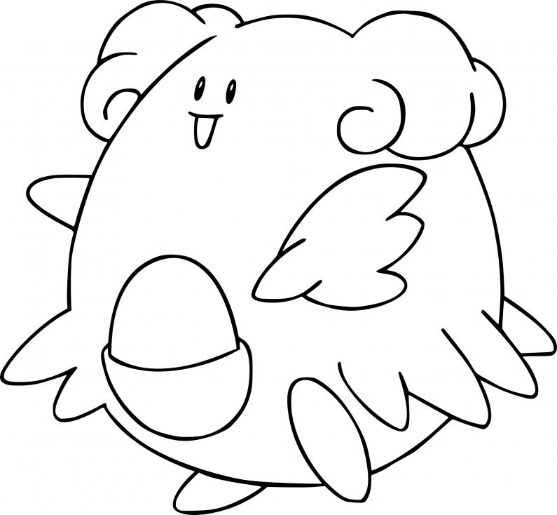 Coloriage Leuphorie Pokemon