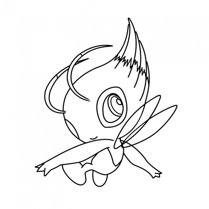 Coloriage Celebi Pokemon