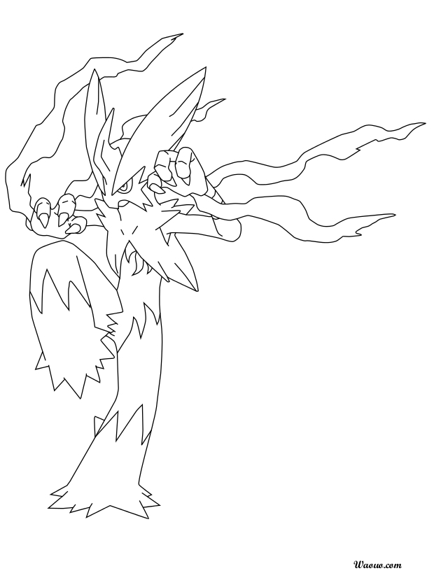 coloriage mega brasegali pokemon