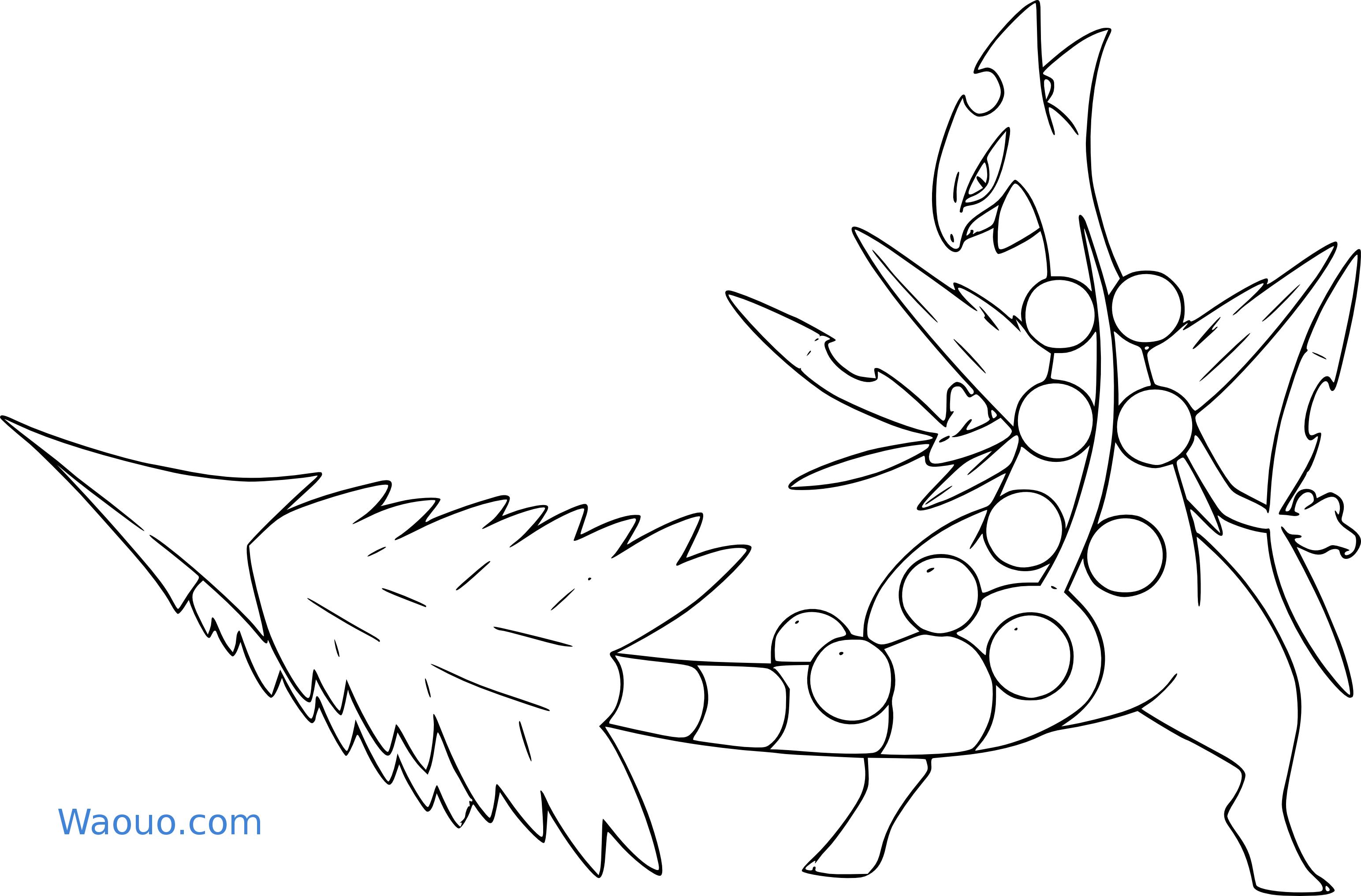 Coloriage Mega Jungko Pokemon A Imprimer