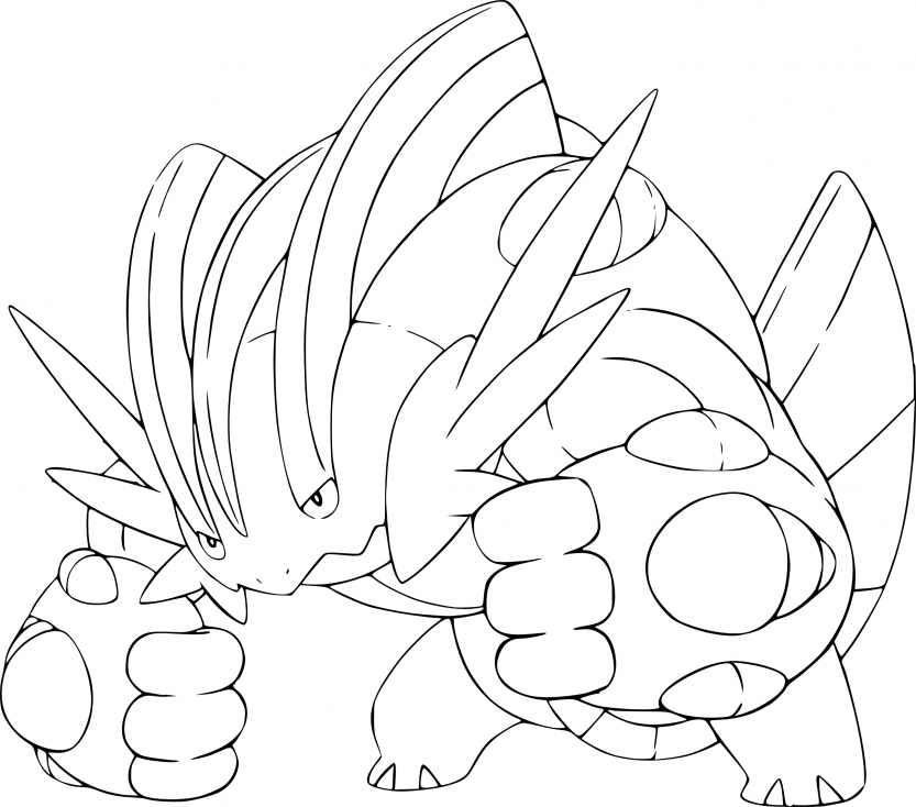 Coloriage Méga-Laggron Pokemon