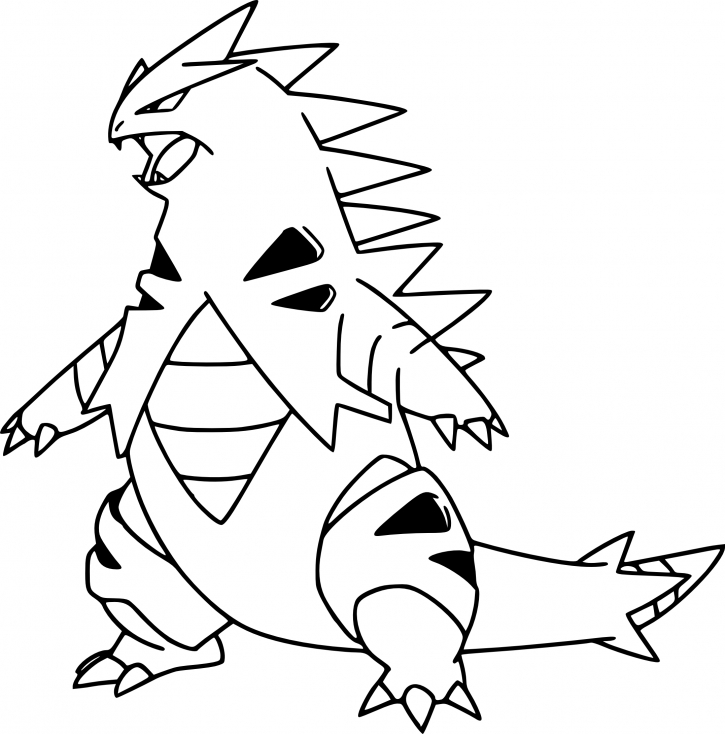 Coloriage Tyranocif Pokemon