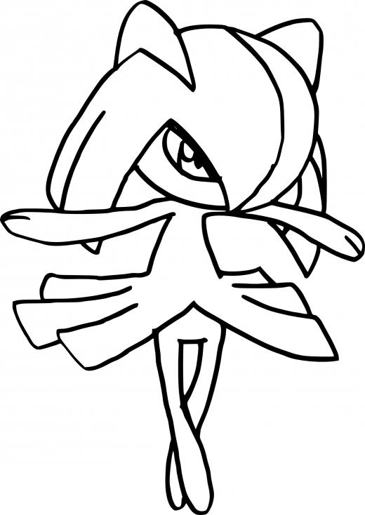 Coloriage Kirlia Pokemon 224 Imprimer
