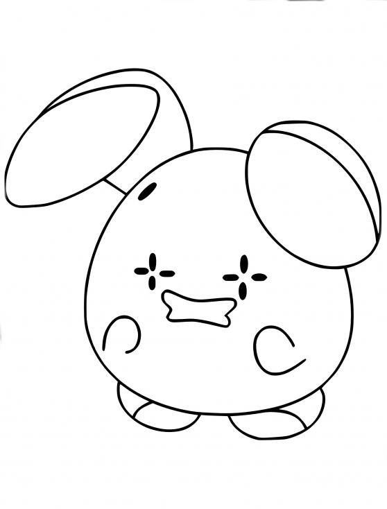 Coloriage Chuchmur Pokemon