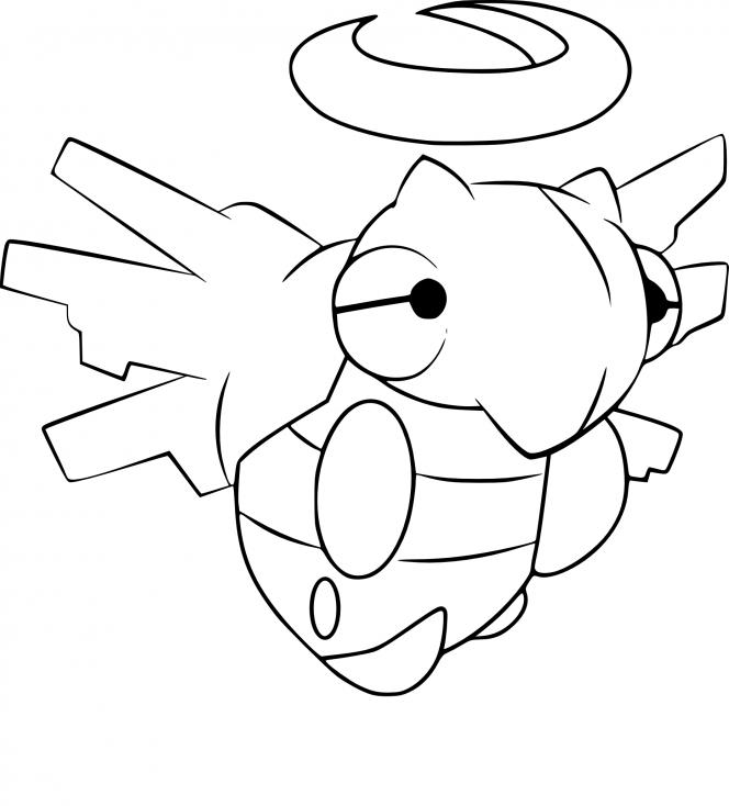 Coloriage Munja Pokemon