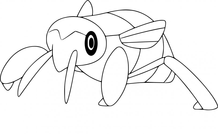 Coloriage Ningale Pokemon