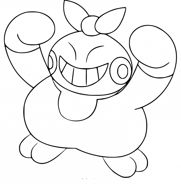 Coloriage Makuhita Pokemon