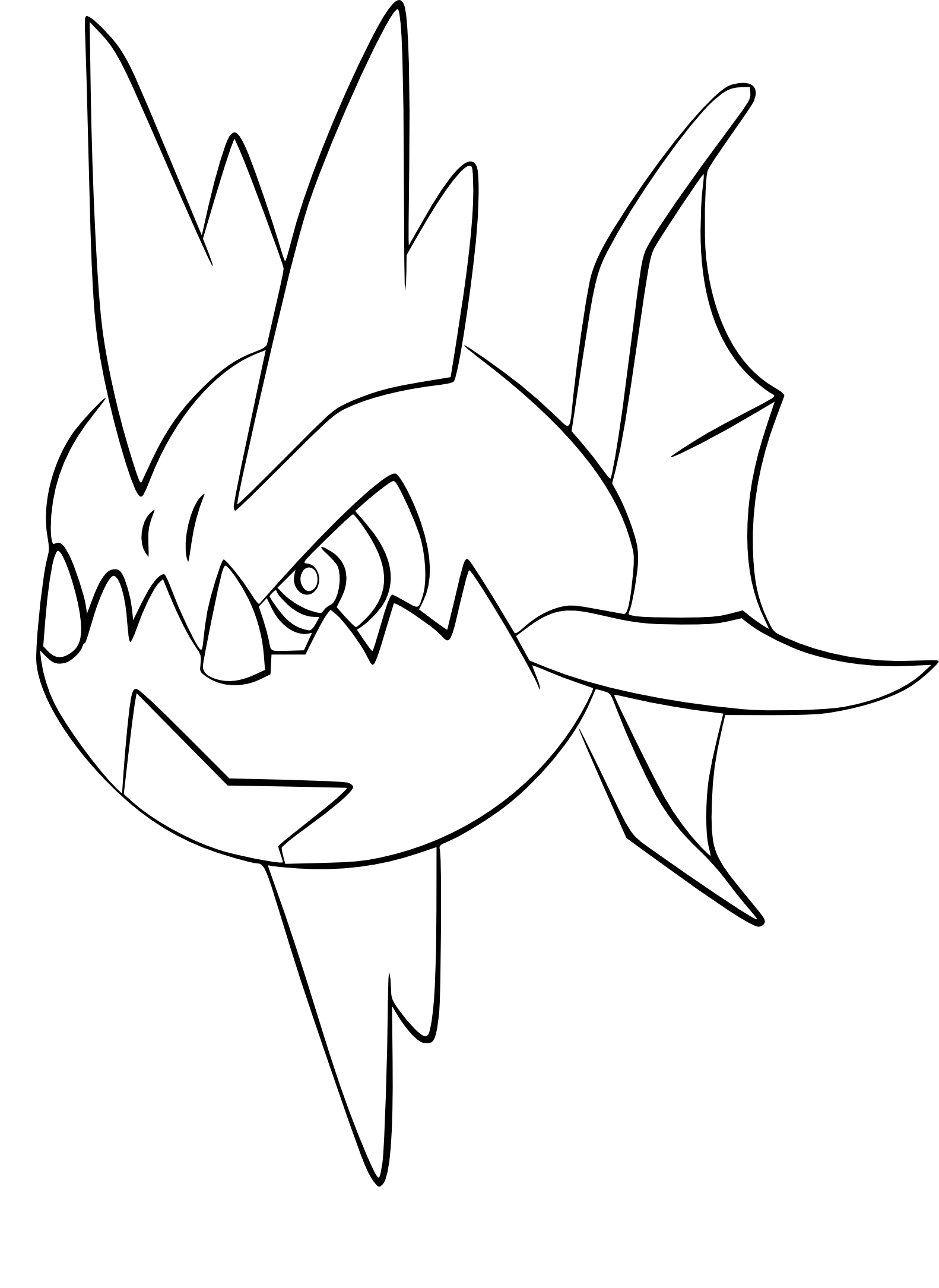 Sharpedo Mega Evolution Coloring Pages
