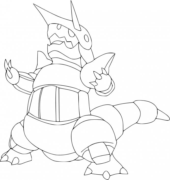 Coloriage Galeking Pokemon