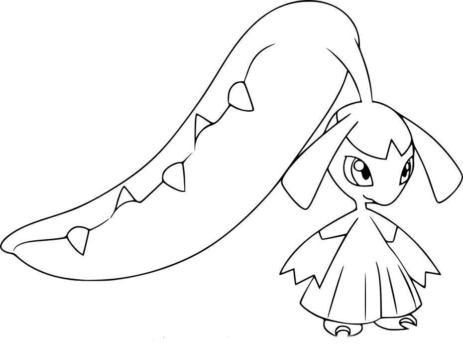 Coloriage Mysdibule Pokemon