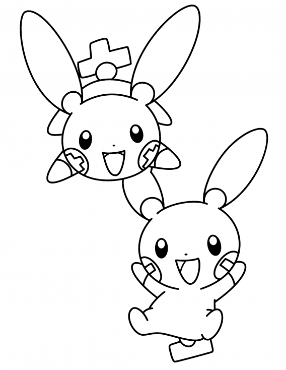 Coloriage Négapi Posipi Pokemon