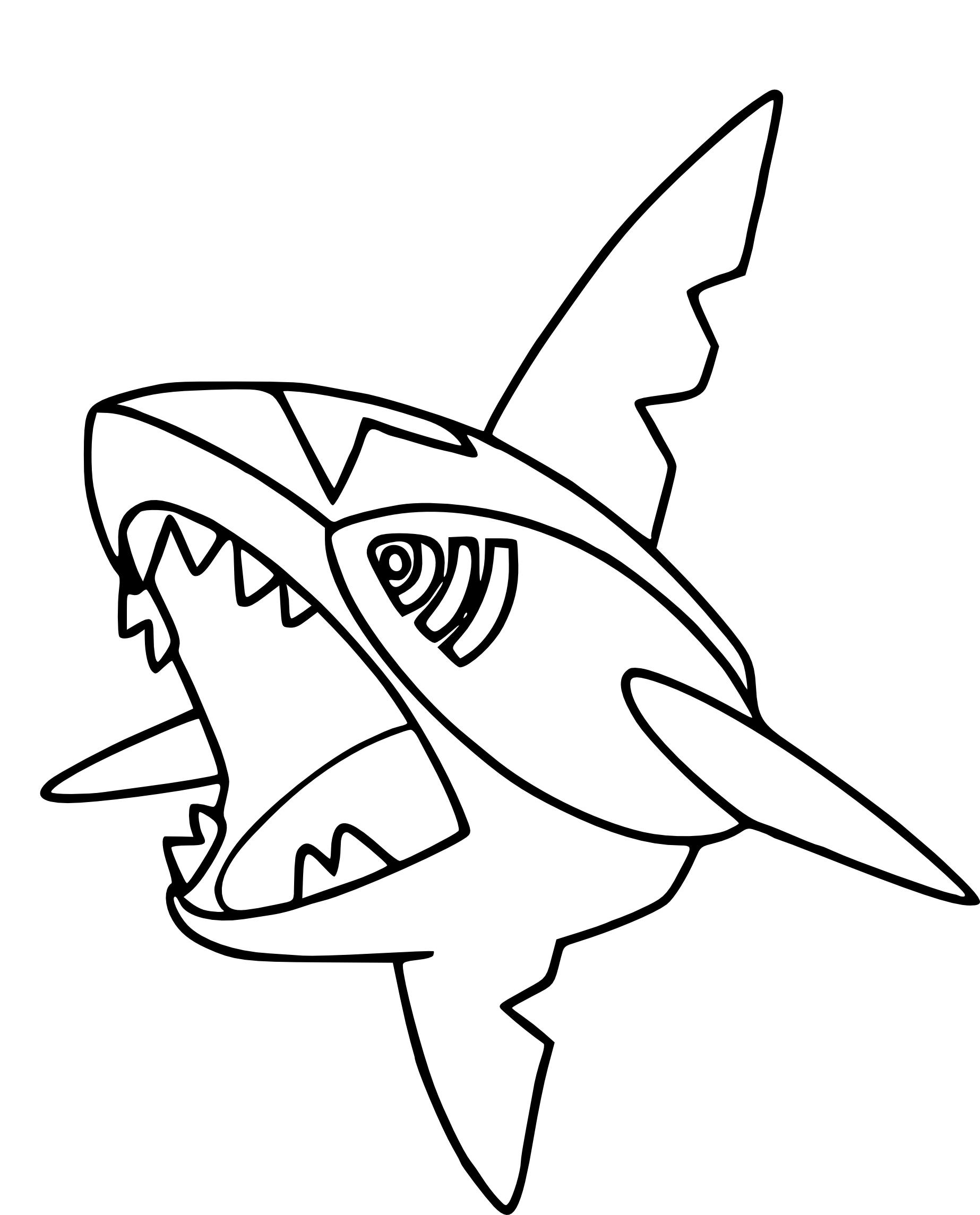 Coloriage sharpedo pokemon imprimer for Immagini squali da stampare