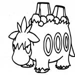 Coloriage Camérupt Pokemon