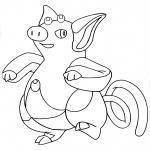 Coloriage Groret Pokemon