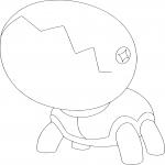 Coloriage Kraknoix Pokemon