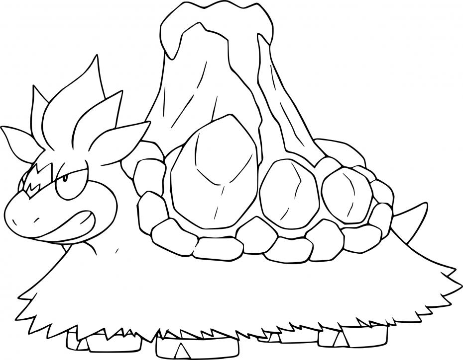 Coloriage Méga-Camérupt Pokemon