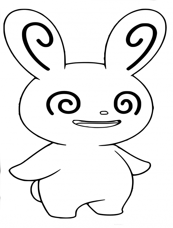 Coloriage Spinda Pokemon