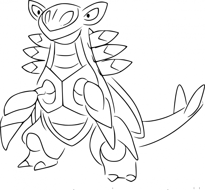 Coloriage Armaldo Pokemon