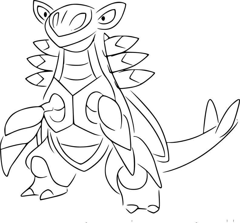 Coloriage Armaldo Pokemon