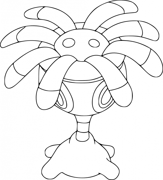 Coloriage Lilia Pokemon