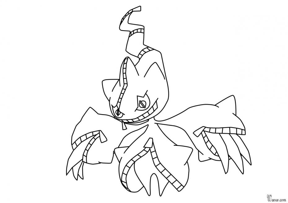 Coloriage Méga-Branette Pokemon